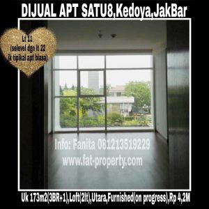 Dijual Apartemen Satu8 Residence,Kedoya,Jakarta Barat.