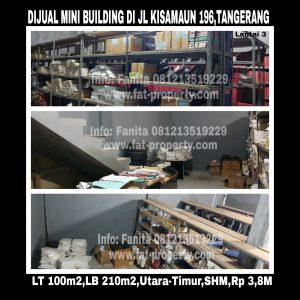 Dijual mini building di Tangerang di Jl Kisamaun.