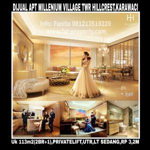 Dijual Apartment Millenium Village Tower Hillcrest,Lippo Karawaci.