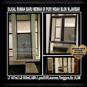 Dijual rumah baru mewah very lux di Puri Indah Blok W,Jakarta Barat.