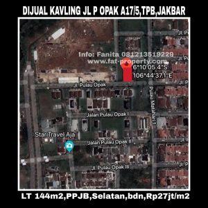 Dijual cepat kavling bagus di Perumahan elite Taman Permata Buana,Puri Indah,Jakarta Barat.