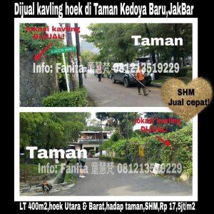 Dijual cepat kavling bagus untuk hunian di Taman Kedoya Baru,Jakarta Barat.