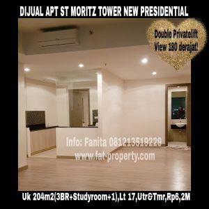 Dijual Apartemen ST MORITZ Jl Puri Indah,Jakarta Barat.