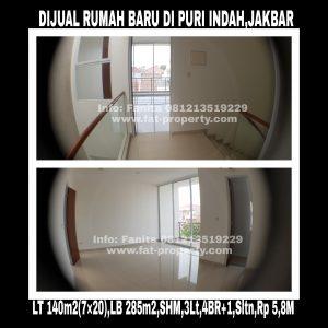 Dijual rumah bagus baru dan murah di Puri Indah,Jakarta Barat.
