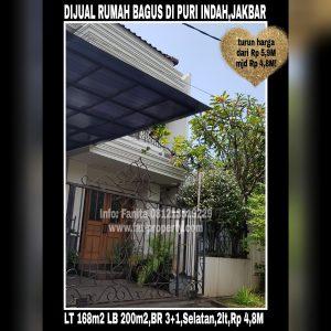 Dijual cepat rumah bagus di Puri Indah blok D,Jakarta Barat.