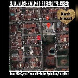 Dijual kavling di Pulau Sebaru Hoek L2/14, Taman Permata Buana,Jakarta Barat.