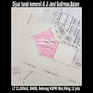 Dijual tanah komersil di Batam.