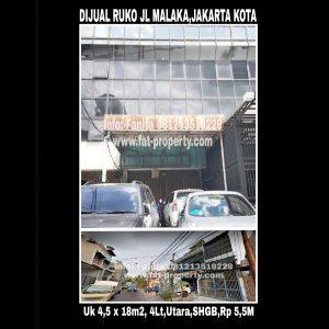 Dijual Ruko Jalan Malaka,Jakarta Kota.