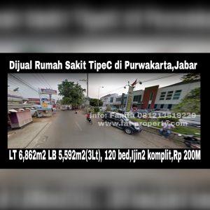 Dijual Rumah Sakit Tipe C yang masih berjalan sangat ramai di Purwakarta,Jawa Barat.