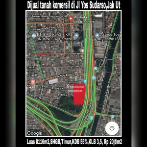 Dijual tanah komersil di Jl Yos Sudarso kav 43-44, Jkt Utara.
