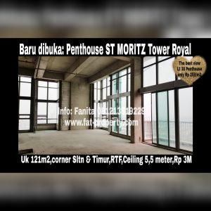 Dijual PENTHOUSE ST MORITZ DI TOWER ROYAL Puri Indah Jakarta Barat
