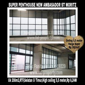 Dijual unit Super Penthouse Apartment ST MORITZ Tower New Ambasador,tower terbaru & terlengkap & paling strategis di tengah2 Lippomal Puri.