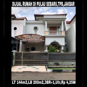 Dijual rumah siap huni di Taman Permata Buana tahap II,Jl Pulau Sebaru,Jakarta Barat.