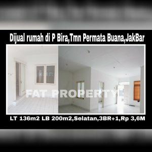 Dijual rumah siap huni di Taman Permata Buana tahap II,Jl Pulau Bira,Jakarta Barat.