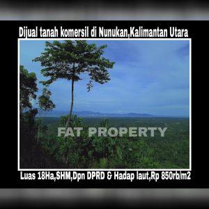 Dijual tanah komersil di pusat pemerintahan Kabupaten Nunukan,Kalimantan Utara.