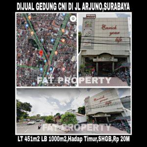 Dijual gedung ex Kantor Multilevel Marketing di Jl Arjuno,Surabaya.