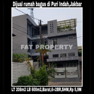 Dijual rumah mewah bagus di Puri Indah,Jakarta Barat.