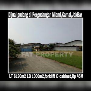 Dijual gudang bagus di Pergudangan MIAMI,Kapuk Kamal,Jakarta Barat.