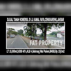 Dijual tanah komersil di Jl Kamal Raya,Cengkareng,Jakarta Barat.