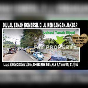 Dijual kavling komersil di Jl Kembangan Selatan (sederetan Puri Mansion),Jakarta Barat.Sangat dekat ke Puri Indah.