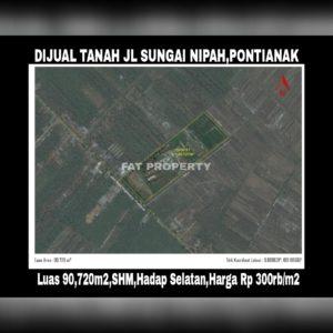 Dijual tanah di Jl Sungai Nipah,Pontianak,KALBAR.