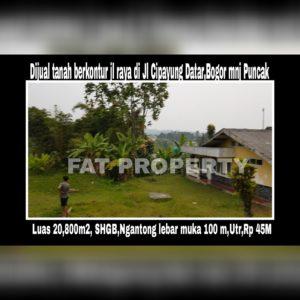 DIJUAL tanah komersil ex hotel di Jl Cipayung arah ke Jl Raya Puncak,Jawa Barat.