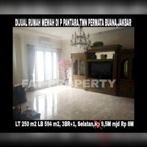 Dijual cepat rumah mewah bagus gaya klasik modern di Jl Pulau Pantara,Taman Permata Buana,Jakarta Barat (sebelah Puri Indah)