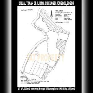 Dijual tanah di Jl. Raya Cileungsi Jonggol Desa Cipeucang Kecamatan Cileungsi Kabupaten Bogor.