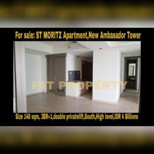 Dijual Apartment ST MORITZ Tower New Ambasador, Puri Indah, Jakarta Barat