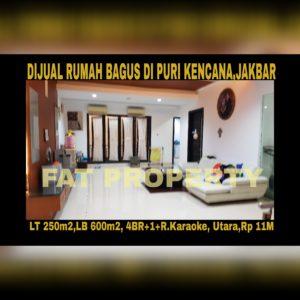 Dijual rumah mewah asri di Puri Kencana blok J,Belakang Gedung Kawan Lama,Jakarta Barat