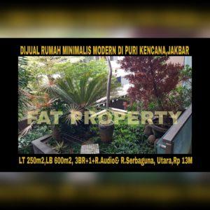 Dijual rumah mewah minimalis modern di Puri Kencana,Belakang Gedung Kawan Lama,Jakarta Barat: