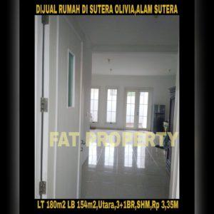 Dijual rumah bagus di Alam Sutera cluster Sutera Olivia.