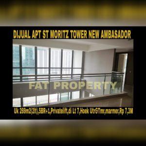 Dijual Apartment ST MORITZ Tower New Ambasador, tower paling high end dan terbaru serta paling strategis di tengah2 mal.