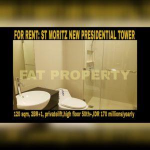 Disewakan Apt ST MORITZ Tower terbaru dan terbaik: New Presidential Tower.