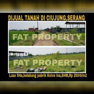Dijual tanah di Ciujung,Serang.