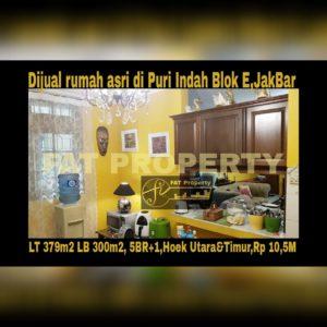 Dijual rumah asri bagus strategis di Puri Indah Blok E,Jakarta Barat.