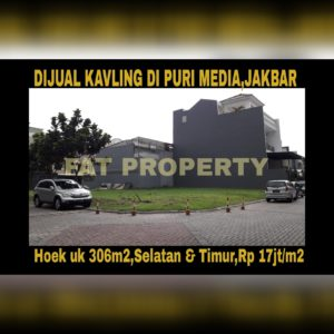 Dijual cepat harga murah banget kavling bagus di Puri Media Blok C9 no 16,Jakarta Barat.