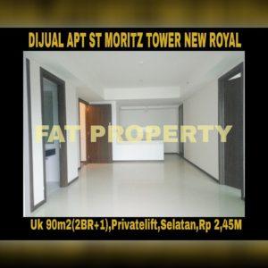 Dijual Apartment ST MORITZ Tower New Royal,Jl Puri Indah U1,Jakarta Barat.