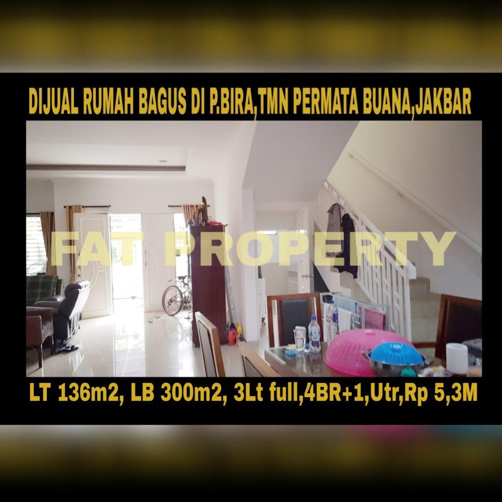 Dijual cepat rumah bagus relatif baru (usia bangunan baru 2tahun) di Jl Pulau Bira,Taman Permata Buana,Jakarta Barat.(sebelah Puri Indah)
