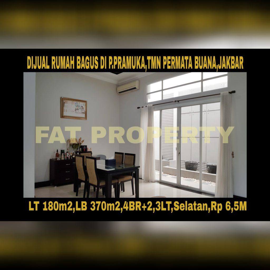 Dijual rumah di Taman Permata Buana, Jl Pulau Pramuka,Jakarta Barat.