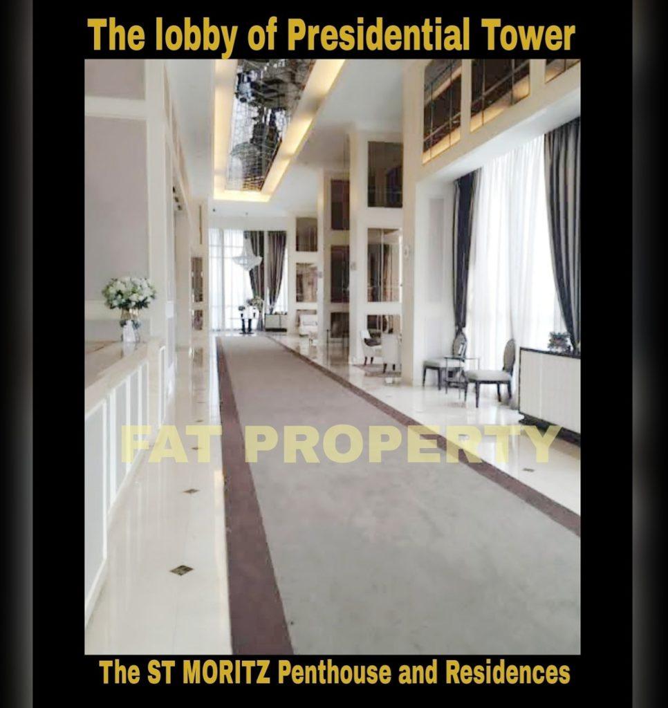 Dijual Apartment ST MORITZ Tower Presidential the best tower (hanya 4 unitper lantai dgn privatelift): ukuran 158m2.