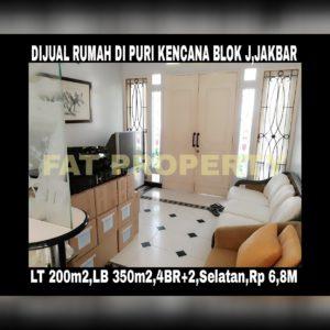 Dijual rumah masih dihuni di Puri Kencana blok J,Belakang Gedung Kawan Lama,Jakarta Barat: