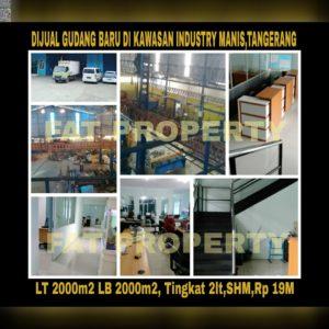 Dijual gudang bagus dan baru di Kawasan Industri Manis,Bitung,Tangerang.