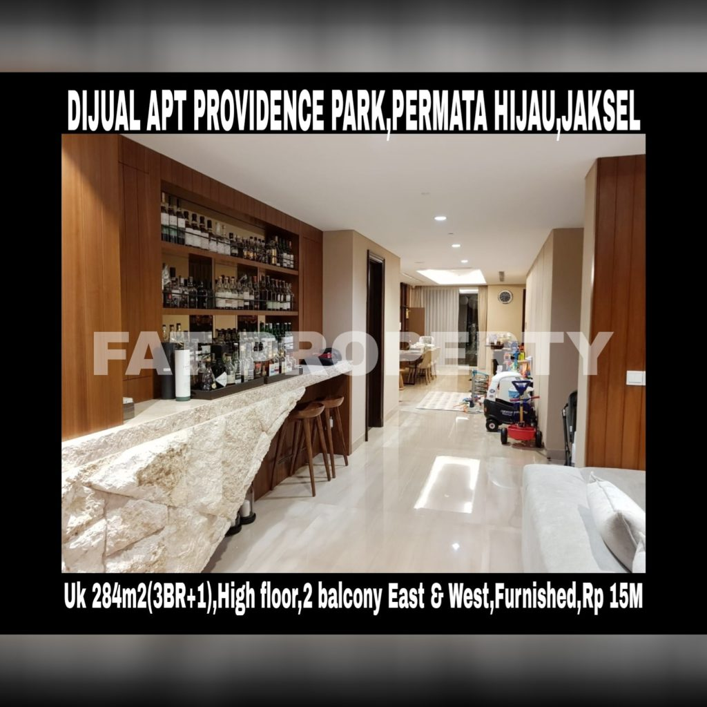 Dijual Apartment Providence Park,Permata Hijau,JakSel super mewah di lantai tinggi dgn view keren!