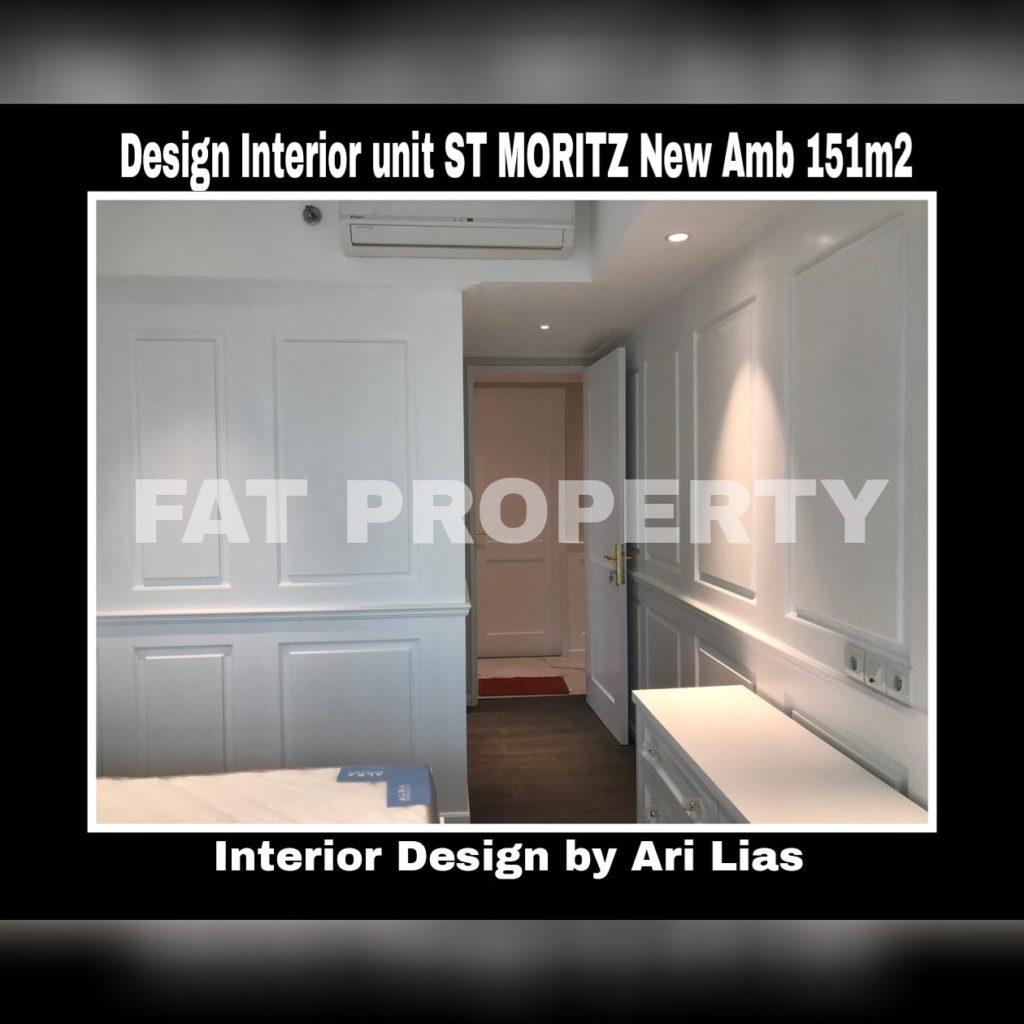 Contoh desain interior Apt ST MORITZ Tower New Ambasador 151m2(3BR+1) by Ari Lias.