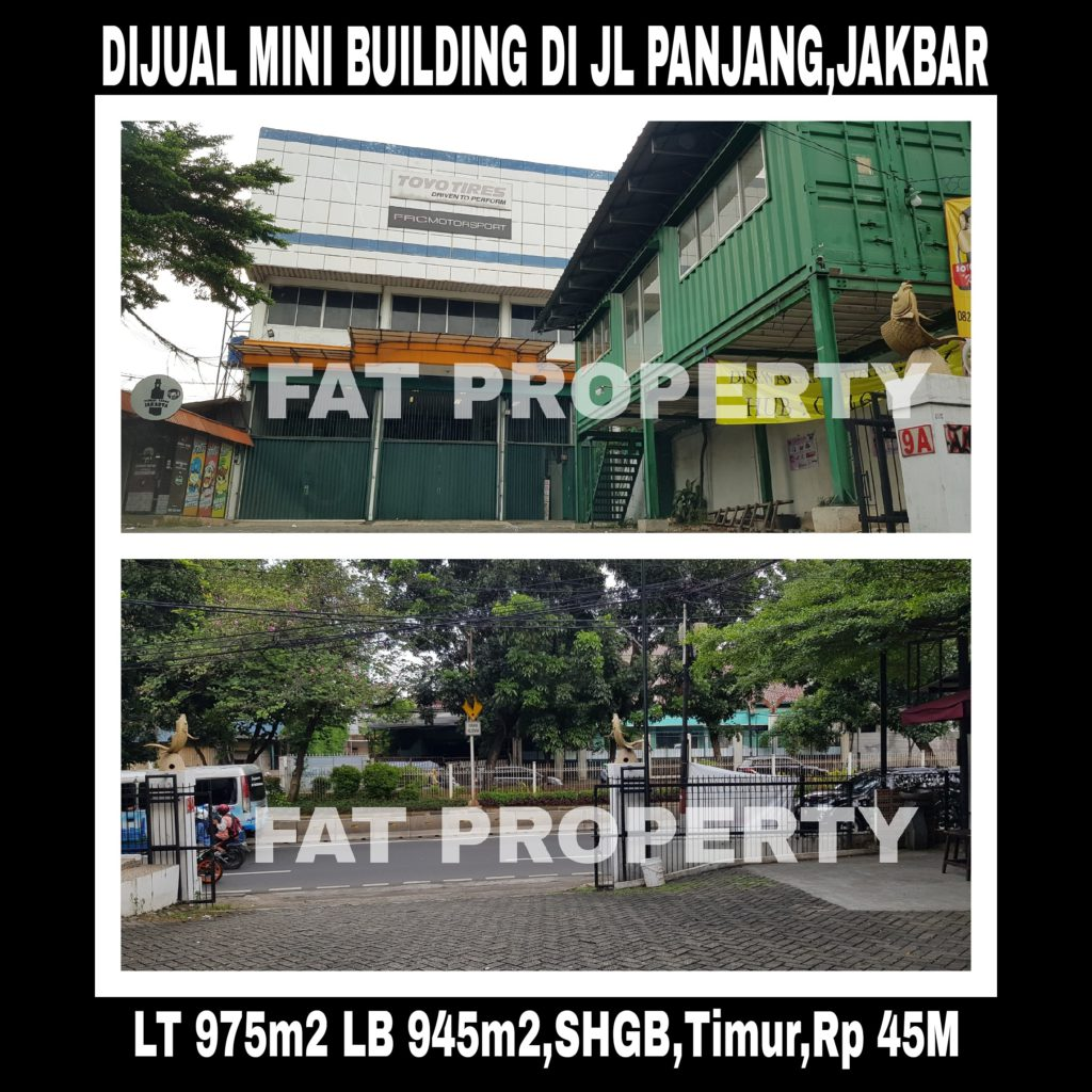 Dijual mini building di atas tanah komersil yang sangat ramai di Jl Panjang,Kedoya Utara,Jakarta Barat.