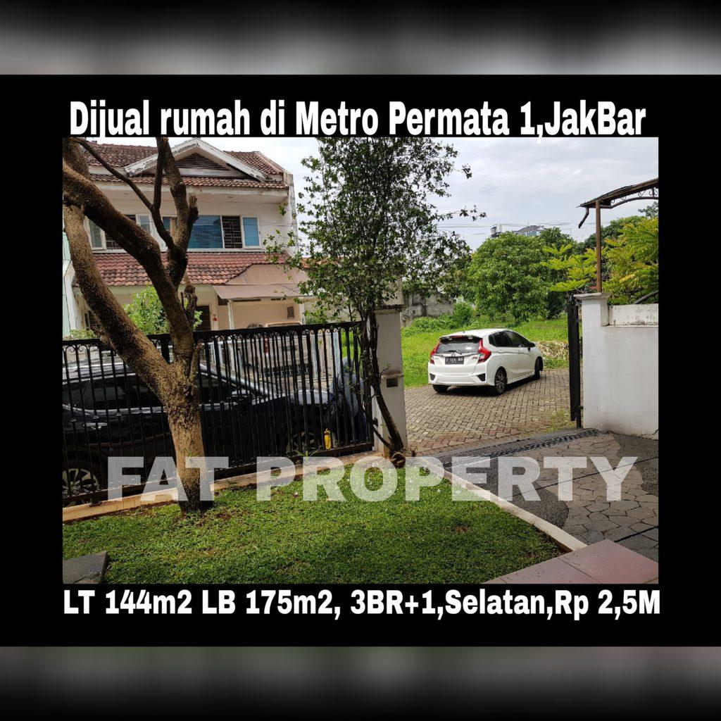Dijual cepat rumah bagus di perbatasan Jakarta Barat dan Tangerang: