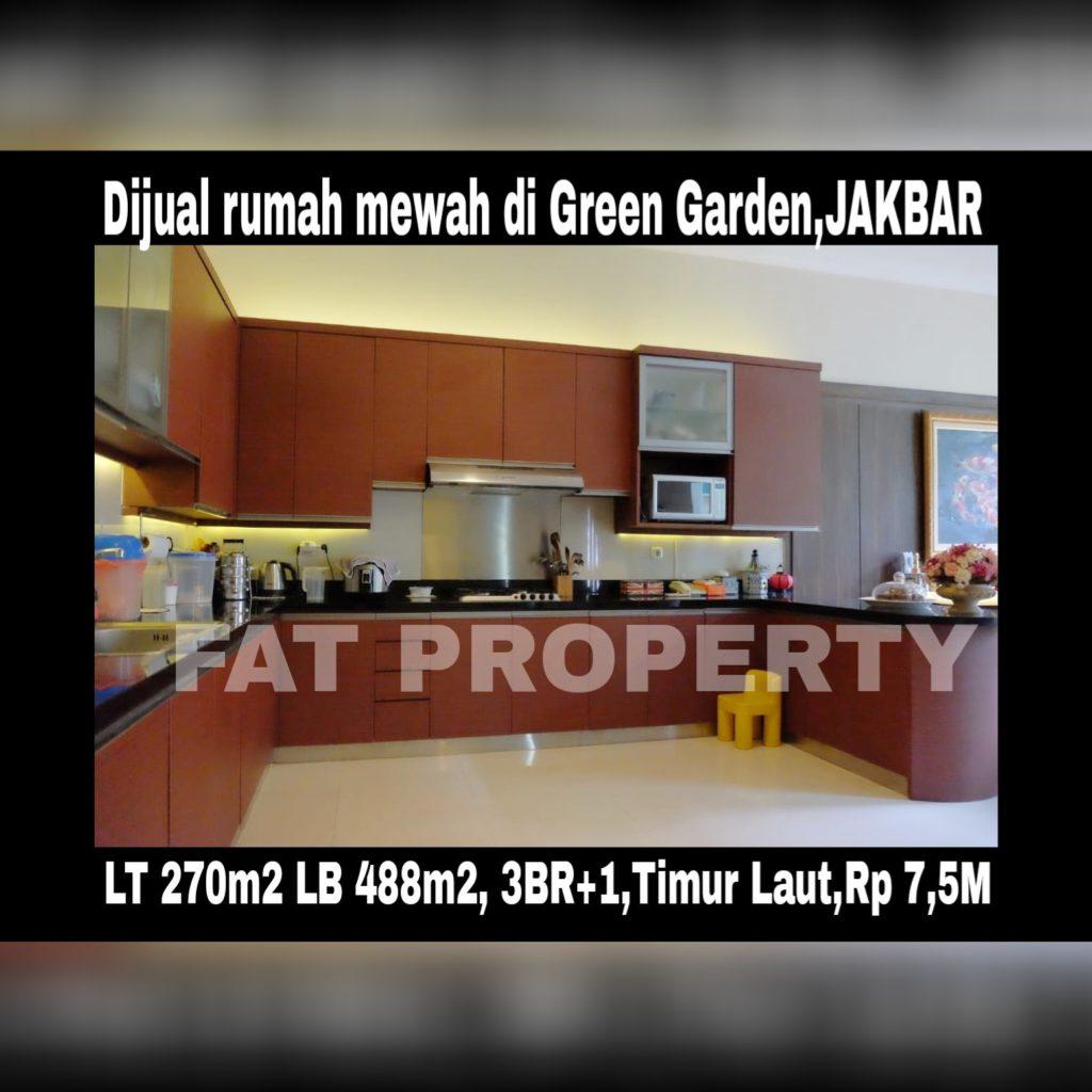 Dijual rumah mewah di Perumahan Green Garden blok L, Kedoya Utara,Jakarta Barat.