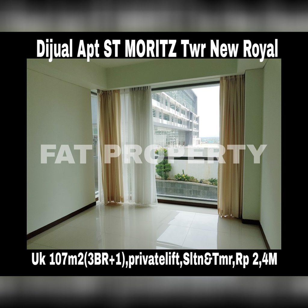 Dijual Apartment ST Moritz di Jl Puri Indah Jakarta Barat.
