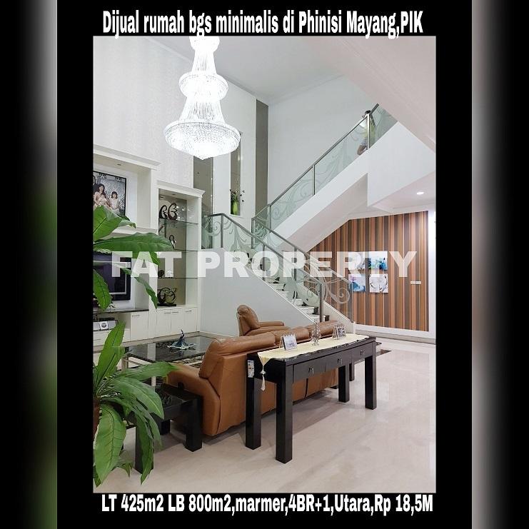 Dijual rumah mewah gaya minimalis di Phinisi Mayang,PIK.
